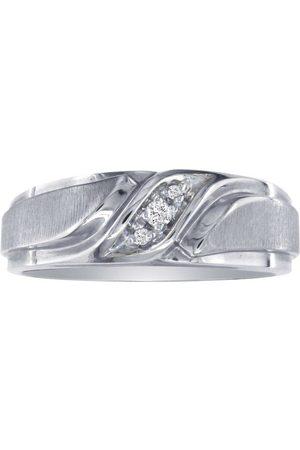 SuperJeweler Men's Promise Ring w/ Three Diamonds in 10k (5.2 g), I/J