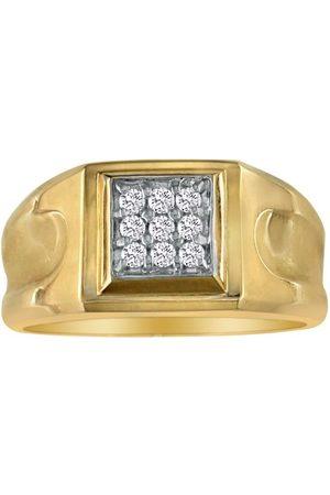 SuperJeweler 1/5 Carat 9-Diamond Stylish Men's Ring in 10k (4.3 g), I/J
