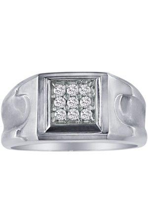 SuperJeweler 1/5 Carat 9-Diamond Stylish Men's Ring, 10K (4.3 g), I/J