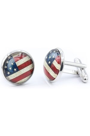 Octavius Stainless Steel American Flag Cufflinks