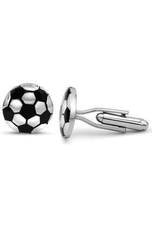Octavius Stainless Steel Soccer Ball Cufflinks