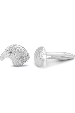 Octavius Stainless Steel Bald Eagle Cufflinks