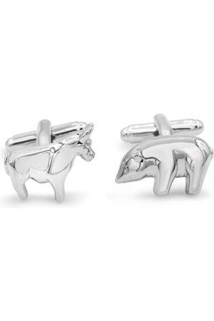 Octavius Stainless Steel Polar Bear & Bull Cufflinks