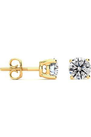 SuperJeweler Long Post Earrings, 1.25 Carat Colorless Diamond Stud Earrings, E-F Color, 14K (1.2 g). Clarity Enhanced