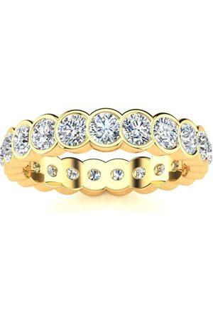 SuperJeweler 1 Carat Overlapping Bezel Set Diamond Eternity Wedding Band in 14k , I/J