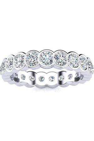 SuperJeweler 1 Carat Overlapping Bezel Diamond Eternity Wedding Band in 14k , H-I | SI2-I1