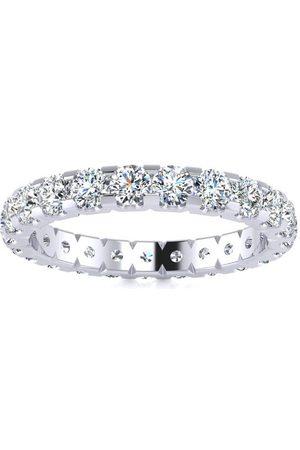 SuperJeweler Platinum 2 Carat U-Based Diamond Eternity Wedding Band, H-I | SI1-SI2I