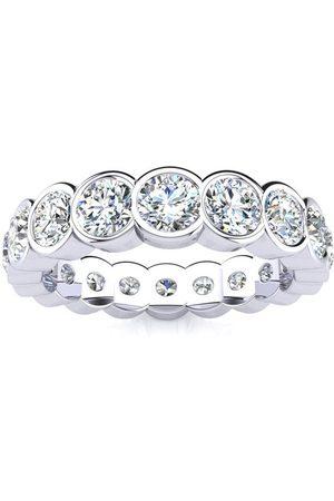 SuperJeweler 3 Carat Overlapping Bezel Set Diamond Eternity Wedding Band in 14k , I/J
