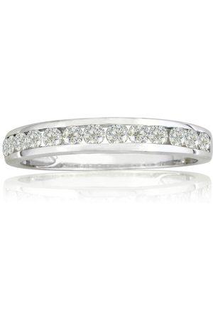 SuperJeweler 1/4 Carat Channel Set Diamond Anniversary Wedding Band in 10k (1.4 g), I/J