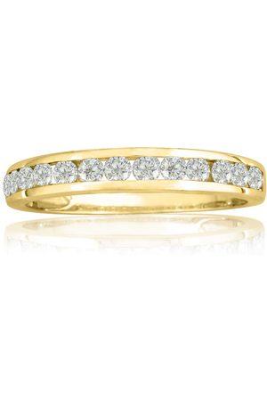 SuperJeweler 1/4 Carat Channel Set Diamond Anniversary Wedding Band Ring, (1.4 g), J/K
