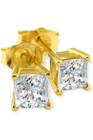 Hansa 1/3 Carat G/H SI Quality Princess Cut Diamond Stud Earrings in 14k by