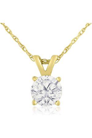 Hansa 3/8 Carat 14k Diamond Pendant Necklace, K/L, 18 Inch Chain by