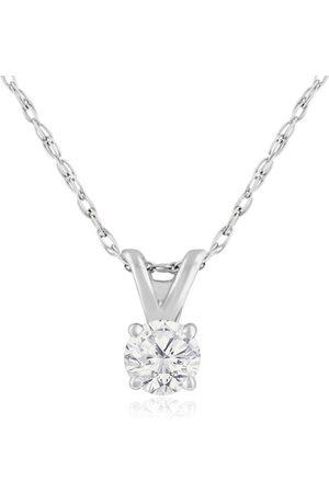 Hansa 1/6 Carat 14k Diamond Pendant Necklace, G/H, 18 Inch Chain by