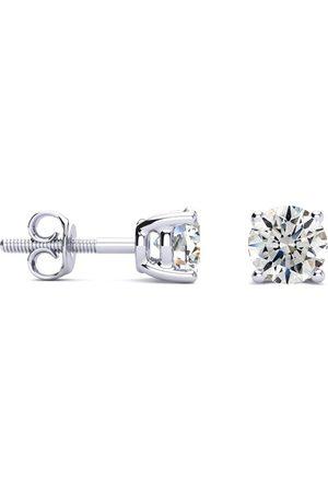 Hansa 1 Carat G/H SI1 Round Diamond Stud Earrings in Platinum by