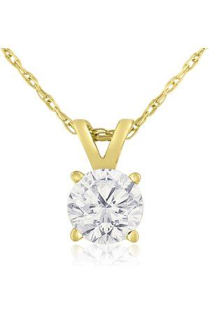 Hansa 2/3 Carat 14k Diamond Pendant Necklace, 4 stars, G/H, 18 Inch Chain by