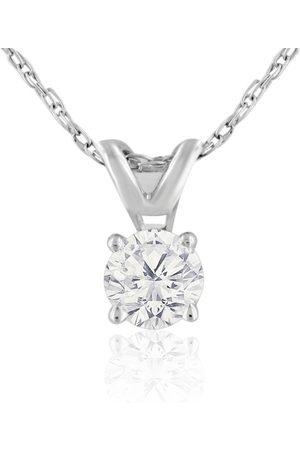 Hansa 1/4 Carat 14k Diamond Pendant Necklace, H/I, 18 Inch Chain by