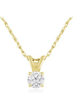 Hansa 1/6 Carat 14k Diamond Pendant Necklace, 4 stars, G/H, 18 Inch Chain by