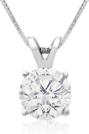 Hansa 1 Carat 14k Diamond Pendant Necklace, 4 stars, G/H, 18 Inch Chain by