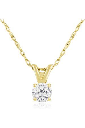 Hansa 1/6 Carat 14k Diamond Pendant Necklace, 2 Stars, J/K, 18 Inch Chain by