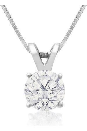 Hansa 2/3 Carat 14k Diamond Pendant Necklace, H/I, 18 Inch Chain by