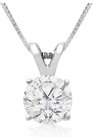 Hansa 3/4 Carat 14k Diamond Pendant Necklace, 4 stars, G/H, 18 Inch Chain by