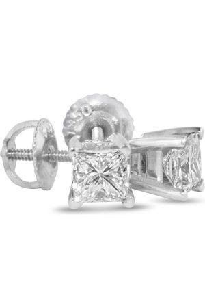 Hansa 1.5 Carat Princess Cut Diamond Stud Earrings, 14k , G/H, SI by