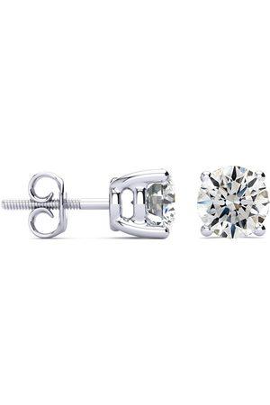 Hansa 2 Carat G/H Color Round Diamond Stud Earrings in Platinum by