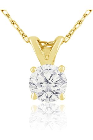 Hansa 3/8 Carat 14k Diamond Pendant Necklace, H/I, 18 Inch Chain by