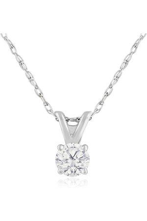 Hansa 1/6 Carat 14k Diamond Pendant Necklace, J/K, 18 Inch Chain by