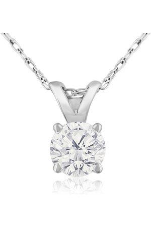 Hansa 1/3 Carat 14k Diamond Pendant Necklace, J/K color, I1/I2 Clarity, 18 Inch Chain by