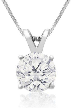 Hansa .85 Carat 14k Diamond Pendant Necklace, 2 Stars, J/K, 18 Inch Chain by