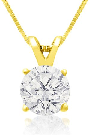 Hansa .85 Carat 14k Diamond Pendant Necklace, H/I, 18 Inch Chain by