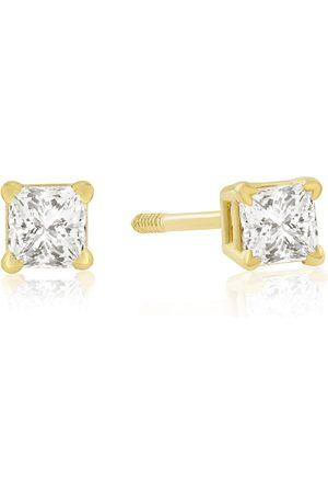 Hansa 1/4 Carat Princess Cut Diamond Stud Earrings in 14k , G/H by