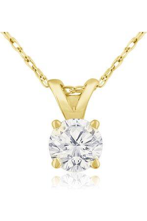 Hansa 1/3 Carat 14k Diamond Pendant Necklace, 2 Stars, J/K, 18 Inch Chain by