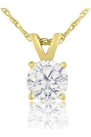 Hansa 1/2 Carat 14k Diamond Pendant Necklace, H/I, 18 Inch Chain by