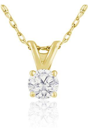 Hansa 1/6 Carat 14k Diamond Pendant Necklace, H/I, 18 Inch Chain by