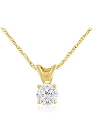 Hansa 1/4 Carat 14k (1.5 Grams) Diamond Pendant Necklace, 4 stars, F/G, 18 Inch Chain by
