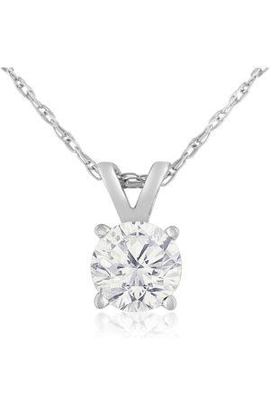 Hansa 1/2 Carat 14k Diamond Pendant Necklace, 4 stars, G/H, 18 Inch Chain by