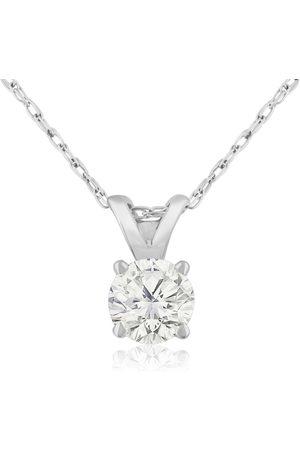 Hansa 1/3 Carat 14k Diamond Pendant Necklace, 4 stars, G/H, 18 Inch Chain by