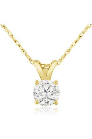 Hansa 1/3 Carat 14k Diamond Pendant Necklace, K/L, 18 Inch Chain by