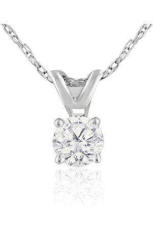 Hansa 1/5 Carat 14k Diamond Pendant Necklace, H/I, 18 Inch Chain by