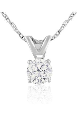 Hansa 1/5 Carat 14k Diamond Pendant Necklace, 2 Stars, J/K, 18 Inch Chain by