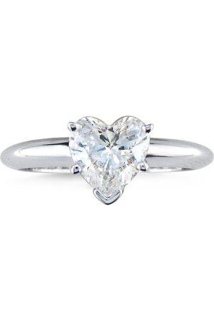 Hansa 1 Carat Heart Shaped Diamond Solitaire Ring, 14k (2.1 g), I/J by