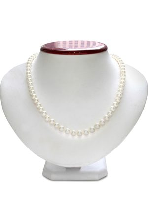 SuperJeweler 6mm AA Hand Knotted Pearl Necklace, 14k (22.3 g) Clasp, 18 Inch Chain