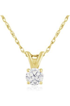 Hansa 1/5 Carat 14k Diamond Pendant Necklace, 4 stars, G/H, 18 Inch Chain by