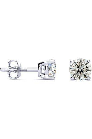 Hansa 1 Carat Diamond Stud Earrings in 14k , J/K by