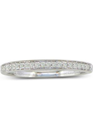 Hansa 1/6 Carat Round Cut Pave Diamond Wedding Band in 14k (2.1 g), H/I by