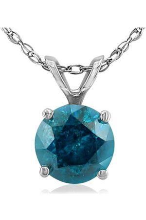 Hansa 3/4 Carat Blue Diamond Pendant Necklace in 14k , 18 Inch Chain by
