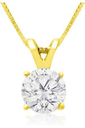 Hansa Women Necklaces - 3/4 Carat 14k Diamond Pendant Necklace, 4 stars, G/H, 18 Inch Chain by
