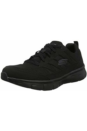 Skechers Men's Synergy 3.0 Trainers, Leather/Mesh/Pu/ Trim BBK